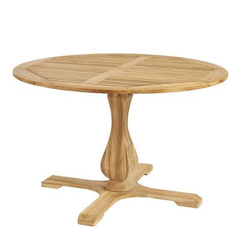 48 pedestal dining table ceylon teak pedestal dining table 48 inch