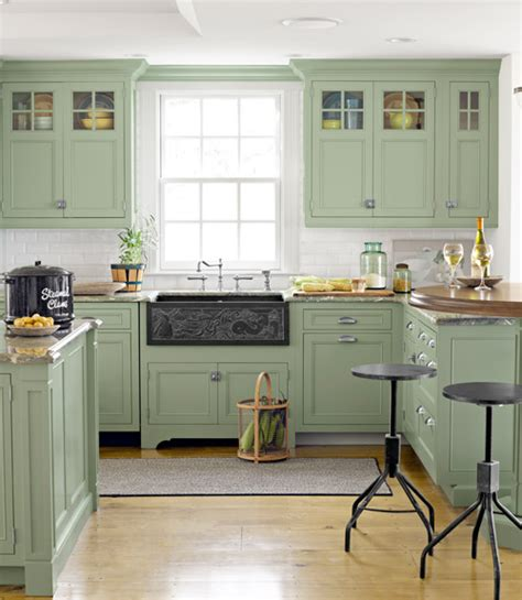 green colored kitchens green country kitchen design decorating envy