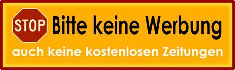 Bitte Keine Werbung Aufkleber Vorlage by Bitte Keine Werbung Einwerfen Harald Schirmer