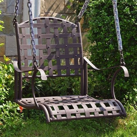 iron swings outdoor iron nailhead hanging porch swing 3569 sgl