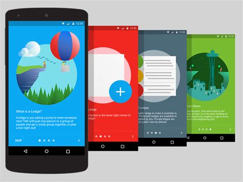 app layout tutorial localledge material ui ux redesign icon illustrations
