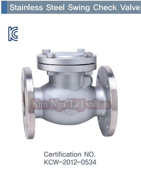 stainless swing check valve stainless steel swing check valve osy type steel kim