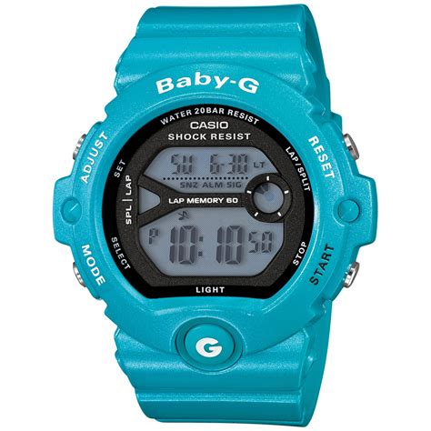 g shock babyg womens digital runners blue resin