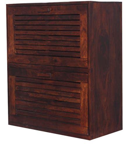 buenos shoe rack in honey oak finish by woodsworth by