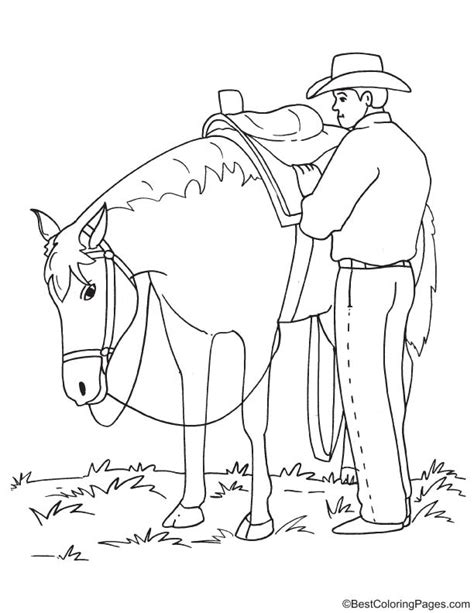 cowboy horse coloring page a cowboy on a horse coloring pages
