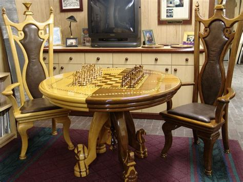 chess table with chairs chess table chairs chess pieces finewoodworking