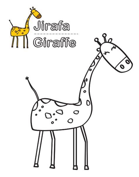 imagenes de jirafas en ingles dibujos para colorear abril 2013