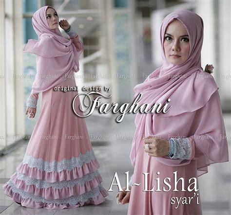 Al Lisha al lisha by farghani dusty pink baju muslim gamis modern