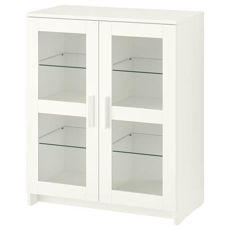 ikea storage cabinets with glass doors brimnes cabinet with doors glass white 78 x 95 cm ikea