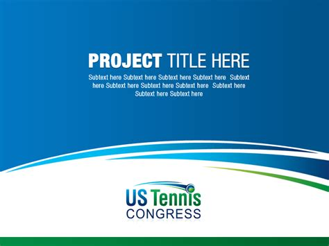 design proposal sponsorship serious professional powerpoint design for us tennis