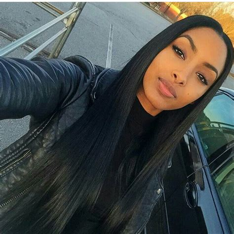 black hair weave part in the middle middle part sew in hair pinterest middle hair style