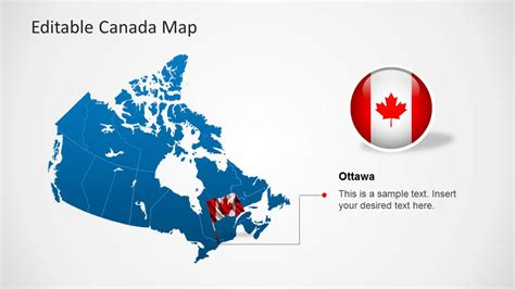 us and canada map for powerpoint editable canada map template for powerpoint slidemodel