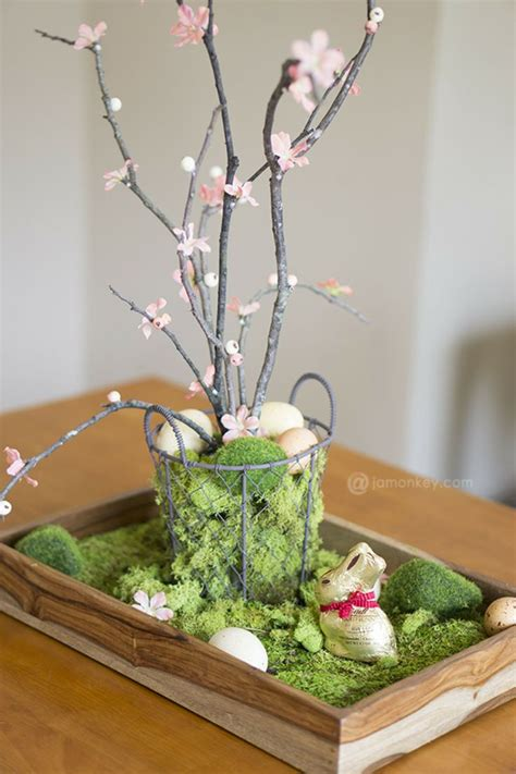 Diy Natural Easter Table Centerpiece Easter Centerpieces Table