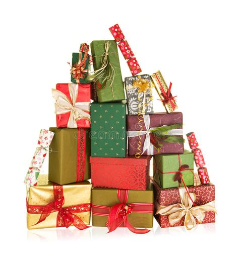 mountain of christmas presents stock photo image of