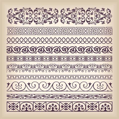 set of arabesque pattern frame border vector set vintage ornate border frame with retro ornament