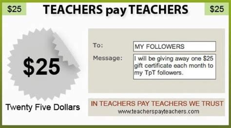 Teachers Pay Teachers Gift Card - an apple for the teacher monthly 25 teachers pay teachers gift card giveaway may 2015