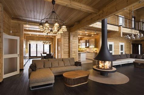 luxury log home interiors luxury log home interior quality wooden house from finland