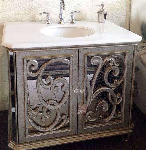 mirrored bathroom vanity cabinets antiqued mirrored bathroom vanity ba948533