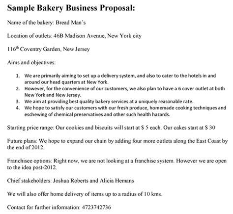 Business Letter For Bakery Bakery Business Sle