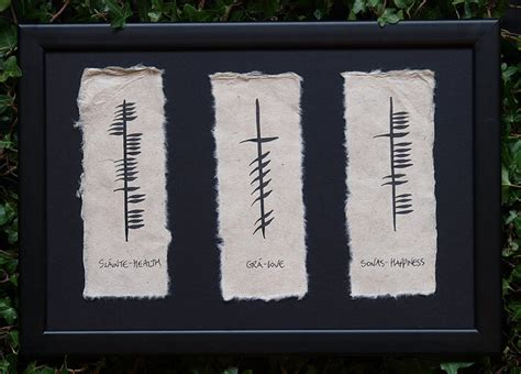 irish triple ogham health love and happiness trevor