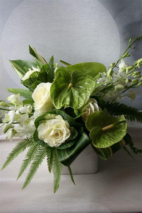Floral Arrangements Delivery by White And Green Flower Arrangements Anthurium Flower