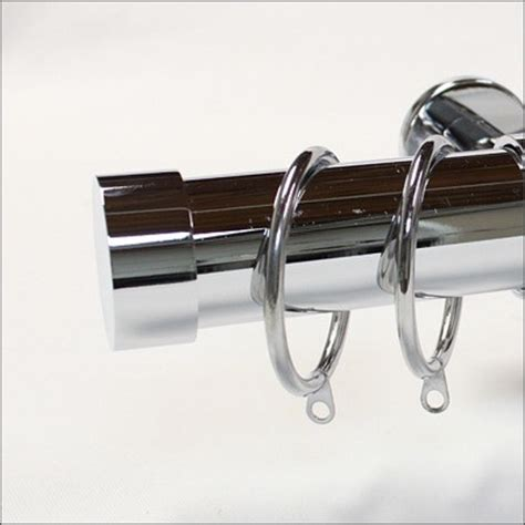 chrome drapery rods chrome collection modern curtain rods by urban decors
