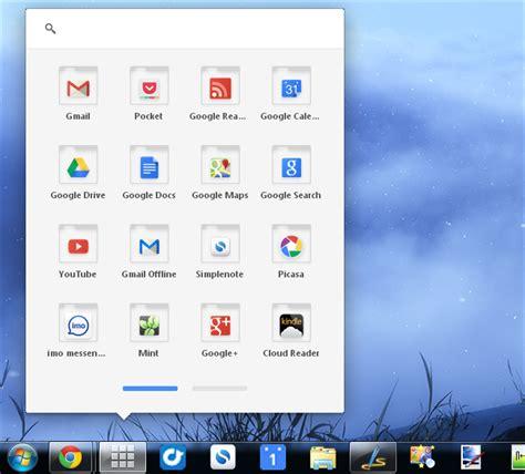 chrome launcher chrome os app launcher on windows taskbar