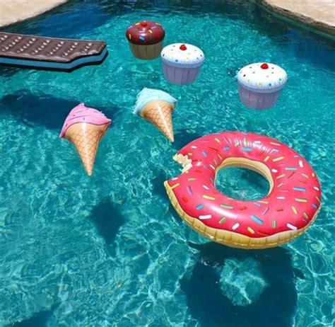 Donut Cup Drink Holder Warna Coklat Floaties Ban Tempat Minuman take your food into the pool hurray 420bamboobanga