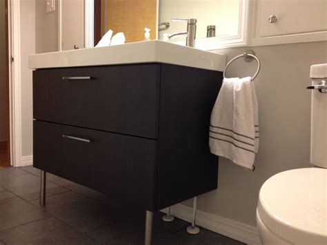 After endless pinning our bathroom is finally complete ikea godmorgon vanity dark gray floors