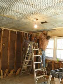galvanized tin ceiling rustic house diy