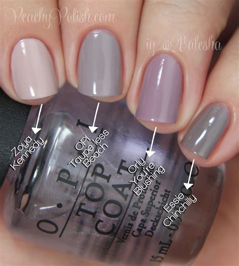 less color opi brazil collection comparisons peachy