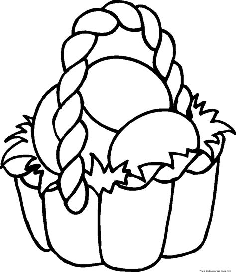 Coloring Pages To Color And Print easter basket coloring sheets free printablefree printable