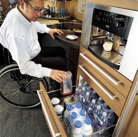 ergonomic italian kitchen design suitable  wheelchair