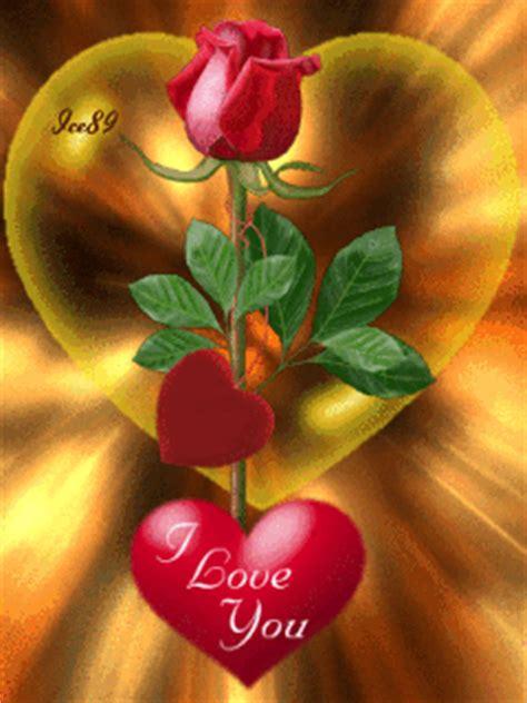 imagenes de corazones y flores con movimiento i love you con rosas y corazones para whatsapp con movimiento