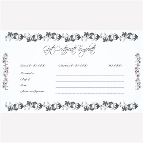 wedding gift certificate template gift certificate voucher for wedding gift
