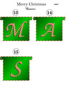 free printable merry christmas banner holidays kid scraps