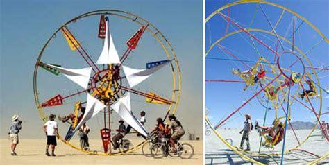 backyard ferris wheel rolling with a mobile human powered ferris wheel