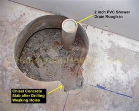Bathtub Trap How To Finish A Basement Bathroom Shower Drain Rough In
