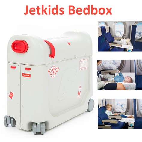 children s travel bed jetkids bed box for kids travel luggage ride on suitcase