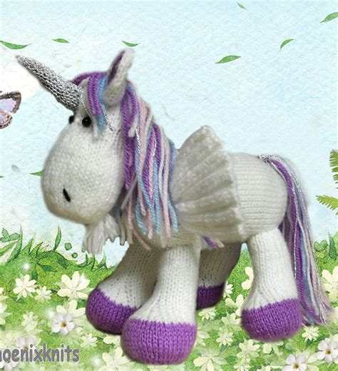 gear pattern of unicorn fantastical creature knitting patterns in the loop knitting