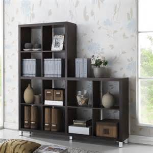 book shelf shelving unit wood cube organizer display unit