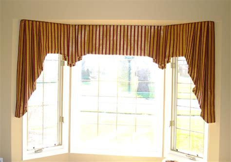 Valances For Bay Windows Inspiration Brown Fabric Valances As Modern Drapes Ideas For Corner Bay Windows