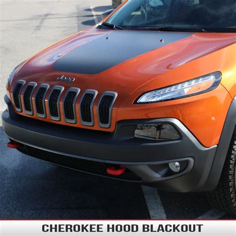 jeep grand cherokee blackout jeep cherokee kl hood blackout alphavinyl