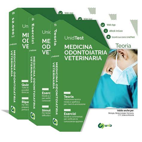 medicina test ammissione libri test di medicina odontoiatria e veterinaria box di