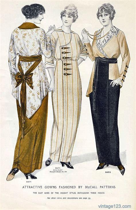 styles of 1914 1910s mccalls patterns fashion fashion pinterest