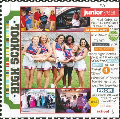 scrapbook yearbook layout cute template to use for a yearbook could use for a