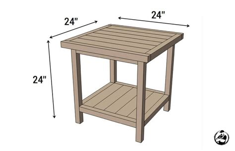 simple square side table  diy plans square side