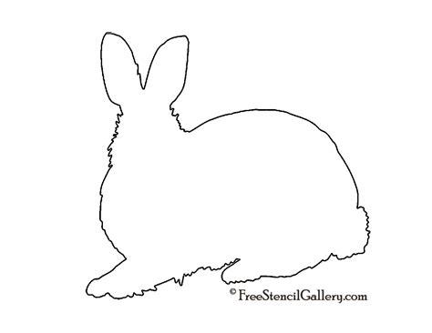 printable rabbit stencils rabbit silhouette stencil free stencil gallery
