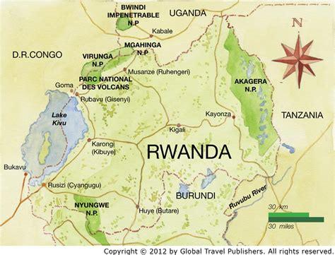 rwanda map rwanda best safari tours