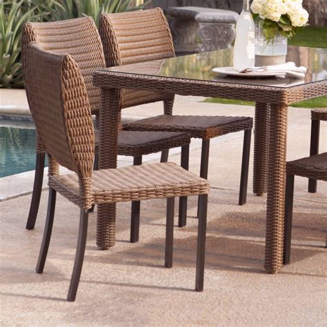 outdoor dining room furniture rattan dining chairs in both indoor and outdoor rooms